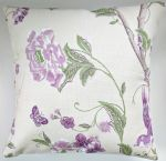 "Cushion Cover in Laura Ashley Summer Palace Grape 16"" No Bird"